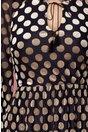 Rochie Leonard Collection cu buline bej catifelate