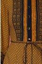 Rochie Leonard Collection galben mustar cu imprimeu divers