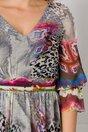 Rochie Leonard Collection gri cu animal print