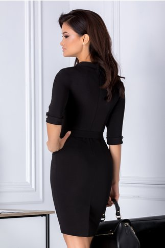 Rochie Leonard Collection neagra conica eleganta