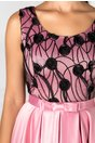 Rochie Lexa de ocazie roz cu broderie la bust
