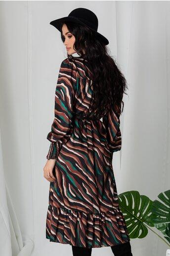Rochie Lia maro cu imprimeu zebra