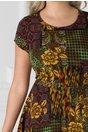 Rochie Linda cu imprimeu multicolor