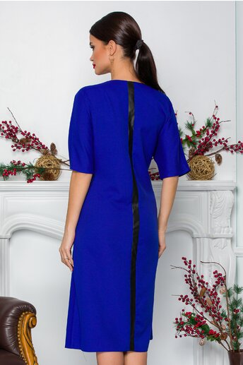 Rochie Malta albastra cu maneca scurta