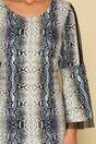 Rochie Mara cu print snake si maneci clopot