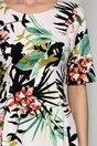 Rochie Mara ivory cu imprimeuri florale