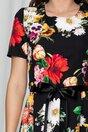 Rochie Mara scurta neagra cu imprimeuri florale
