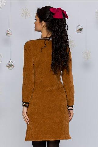 Rochie Mari maro reiata cu benzi elastice decorative