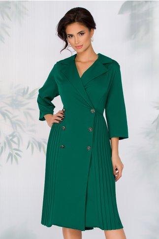 Rochie Masha verde inchis stil sacou