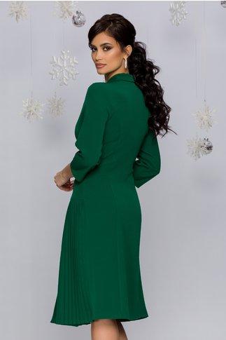 Rochie Masha verde pin stil sacou