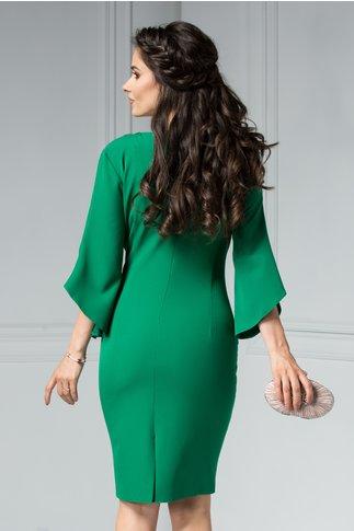 Rochie Maura verde deschis cu aplicatii elegante