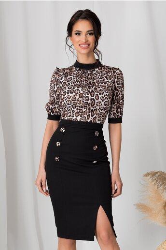 Rochie MBG cu animal print si fusta neagra