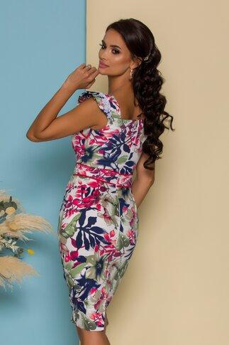 Rochie MBG cu imprimeu tropical