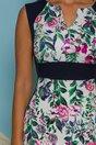 Rochie MBG cu imprimeuri florale colorate