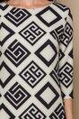 Rochie MBG ivory cu imprimeuri geometrice