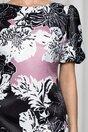 Rochie MBG neagra cu imprimeu floral roz