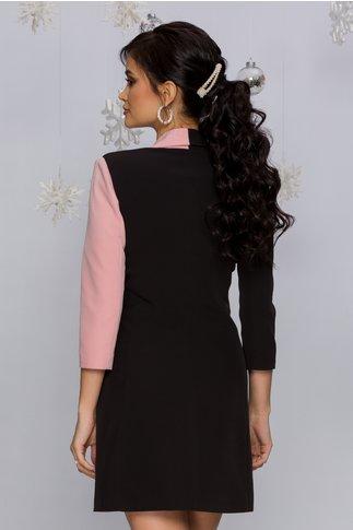 Rochie MBG neagra cu roz tip sacou