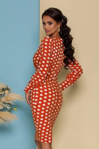 Rochie MBG orange cu buline