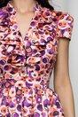 Rochie MBG satinata cu cercuri multicolore