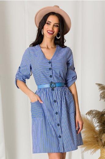 Rochie Mella cu dungi albastre