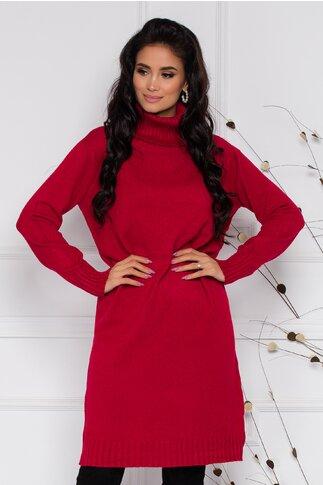 Rochie Mira rosie lejera din tricot