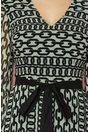 Rochie Mirabela ivory cu imprimeu chain negru