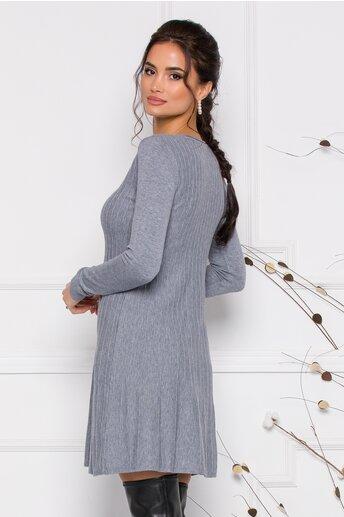Rochie Miruna gri din tricot