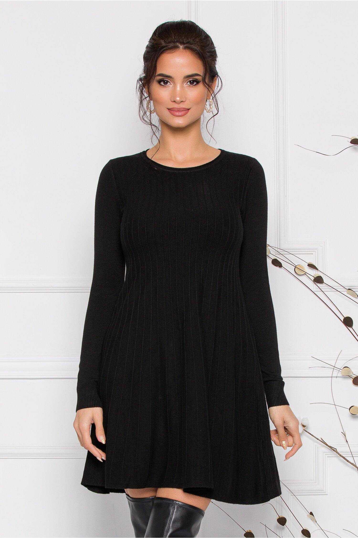 Rochie Miruna neagra din tricot imagine