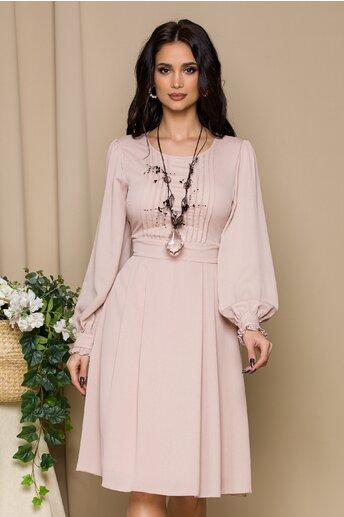 Rochie Misha roz pudrat cu pliuri