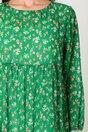Rochie Misha verde cu floricele