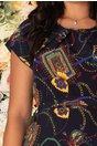 Rochie Missa bleumarin cu imprimeu divers