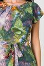 Rochie Missa cu imprimeu in nuante de verde si lila