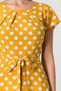 Rochie Missa galben mustar cu buline
