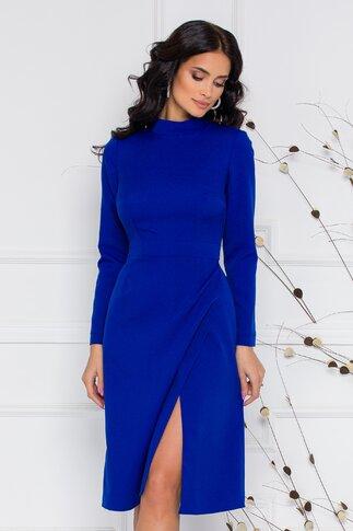 Rochie Moze albastra cu fusta petrecuta