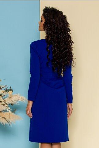 Rochie Moze albastra office petrecuta