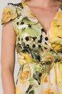 Rochie Moze clos cu imprimeuri florale galbene