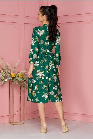Rochie Moze clos verde cu imprimeu floral