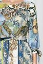 Rochie Moze cu imprimeu divers si cordon in talie