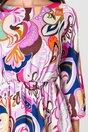 Rochie Moze cu imprimeu in nuante de lila