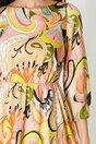 Rochie Moze cu imprimeu in nuante pastelate