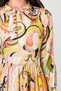 Rochie Moze cu imprimeuri roz si orange