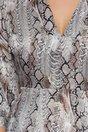 Rochie Moze cu print piele de sarpe bej