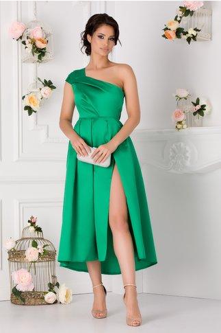 Rochie Moze cu un umar verde din tafta