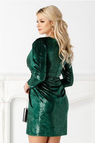 Rochie Moze lucioasa petrecuta verde