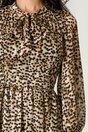 Rochie Moze maro cu animal print