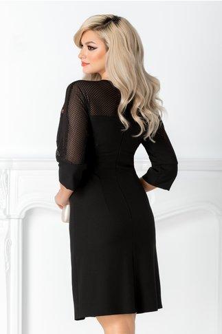 Rochie Moze neagra cocktail cu maneca raglan