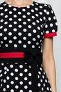 Rochie Moze neagra cu dungi rosii si buline albe