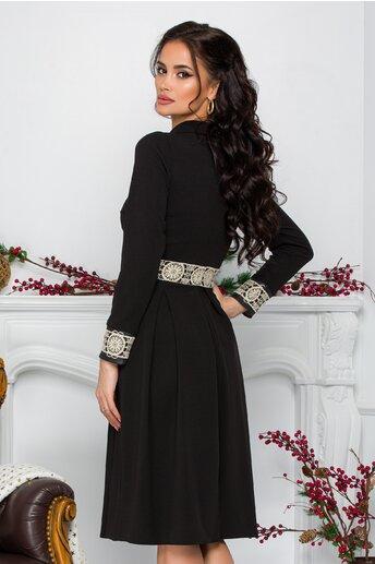 Rochie Moze neagra cu model brodat