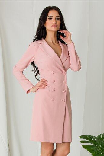 Rochie Moze roz tip sacou