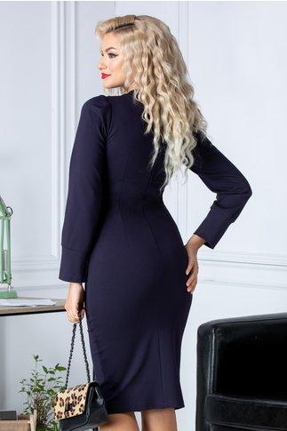 Rochie Moze smart casual bleumarin